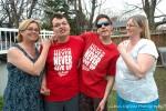 Tracy Trowbridge and Jesse Harris, 20, Michael, 19 and Lyne Mathieson.