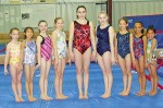 These girls from the Bluewater Gymnastics Club did well at the recent provincial  championships. From left are, Madison Gabel, Rachael Riley, Jaelyn Cole, Amy Bladon, Serena Baker, Lexi McCormack, Shea Skinn-Wai, Hayley Tarboton and Jovie Richardson. Barry Wright