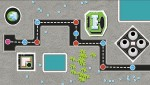 Screen shot from a draft game under development for Lambton College. The final version could see students work their way along the path, stopping and participating in learning activities at each large dot. Image courtesy Lambton College