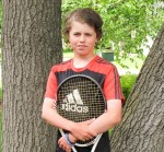 Sarnia's Andrew Davies, 13, had first and second place finishes at the first two stops of the Little Caesars Junior Tennis Tour in Southwestern Ontario. Submitted Photo
