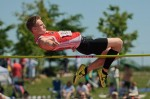 Sebastian Smith of Northern Collegiate goes up and over at the all-Ontario high school track and field championships.  Bruce Smith Photo