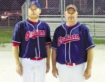 Sarnia's Aaron Stocking, left, and Kevin Morgan, play for the Alvinston Indians Barry Wright