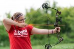 Ali Kraayenbrink, 15, takes aim at the Lambton Sportsmen's Club archery range. Glenn Ogilvie