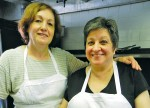 Antonietta Mele, right, works closely with Sonia Koundakjian in the kitchen at Salvatore's Trattoria E Ristorante. Cathy Dobson