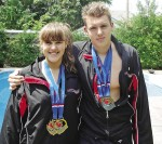 Sarnia's Samuel Boily-Dufour, 15, and sister Maude, 13, won six medals at the swimming age group nationals. Barry Wright