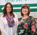 Cheryl Iacobelli, left, is a family support worker with the Lambton Family Initiative, and Linda McLister is a mother advocating for mental health awareness. Tara Jeffrey