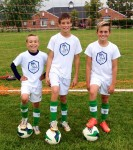 From left, Jacob Drapotoy, RJ Solomone and Matthew Gouveia havebeen selected to train at a youth soccer academy in England next March. Submitted Photo