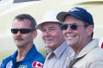 Roger Hadfield says Sarnia's airport was instrumental in the development of his high-flying family, including sons Chris, left, and David, right. They are seen here during a day of family flying in Gatineau, Quebec, on Canada Day, 2010. Photo by Richard Mallory Allnutt, originally for Vintage Wings of Canada