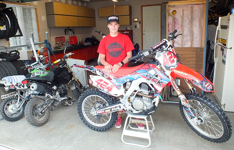 Corunna's Austin Watling, 16, is having a solid season on the amateur motocross circuit, including a win at the Canadian nationals and a third place finish in a race at the U.S. nationals this summer. Barry Wright