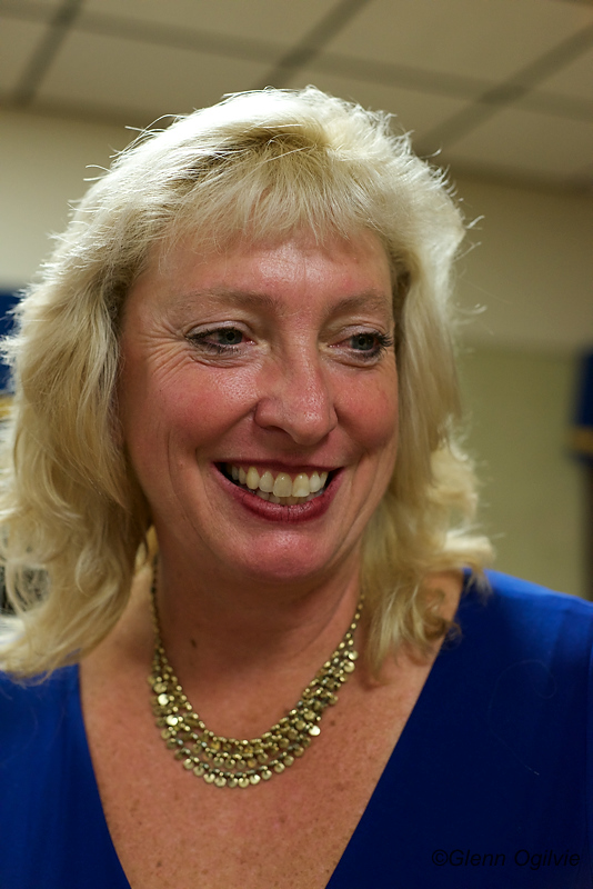 Marilyn Gladu smiles at the Sarnia Legion Hall Monday, where party faithful watched election results roll in. Glenn Ogilvie