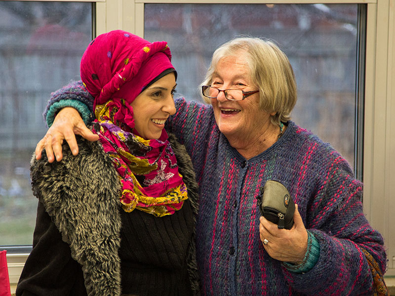 Diana Al-Khaleel shares a happy moment with Diane Plug. Troy Shantz, Special to The Journal