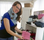 Laura Batista, pictured here in her Sarnia home, is a finalist for the 2016 Mompreneur Momentum Award, for her homegrown business, Handmade for You by Lu.  Tara Jeffrey