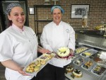 Pastry chef Karissa Anzil, left, and owner Cathy Harris display a few of their creations at the new Cassie's Cottage Cakes & Confections in Point Edward. Cathy Dobson