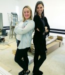 Emily Brown, left, and Skyler Clark at their new dance studio under construction at 1308 London Rd. Pre-registration is May 18. Cathy Dobson