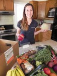 Laura Manzano, owner of a new organic groceries delivery service. Cathy Dobson