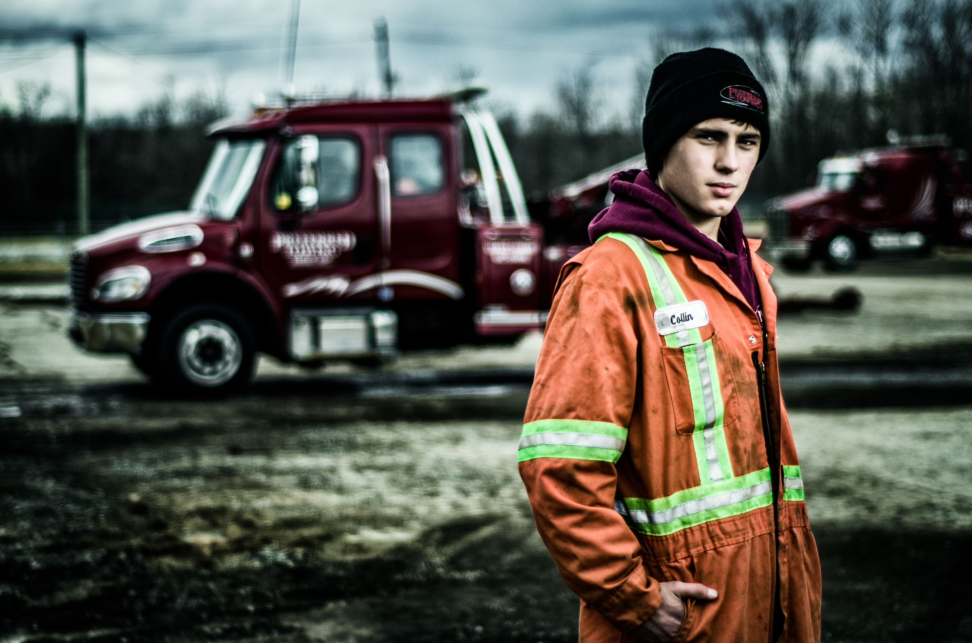 Collin Vandenheuvel and his workmates at Preferred Towing appear in the first episode of Heavy Rescue: 401, airing Oct. 10 on the Discovery Channel. Brett Morris photo, www.BrettM.com