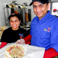 Priti and Trushar Patel, owners of the Taste of Mediterranean restaurant on Lambton Mall Road. Cathy Dobson