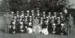 Band members from the Sarnia Sea Cadets posed for this photo at Camp Kitchigami in Goderich, Ont. in 1946. Photo courtesy, John Anderson, CO of HMCS Repulse