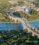 The Blue Water Bridge, looking east from Port Huron, Michigan in Point Edward.  Glenn Ogilvie file photo