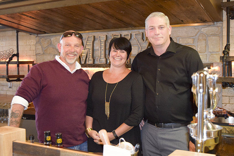 Mixx Lounge owners, from left, Brian Vickery, Tammy Vickery and Mike Peddigrew. Missing is Scott Dargie.  Cathy Dobson