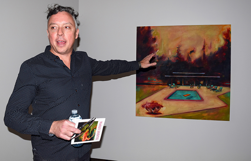 """Sarnia artist Ian McLean is exhibiting his work with three other Canadian artists until May 7 at JNAAG. Here he discusses """"Filtration Chamber."""" Cathy Dobson"""