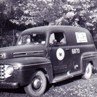 "This Comstock Canada truck was one of dozens travelling Sarnia streets in 1950, carrying ""frequency conversion"" technicians to  more than 7,000 homes, businesses and industrial sites. Photo courtesy, Bob Durand"