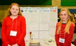 Annabelle Rayson, left, and Lanna Iacobelli, both 11-year-old students at St. Anne elementary, are seen here with their winning project at last year's Lambton County Science fair. Submitted Photo