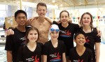 Tops in the pool Ten members of the Rapids 1 swim team had first-place finishes at the St. Clair Erie Aquatic League meet in Leamington, Ont. earlier this month. They included, from left, front row: Kate Bedard, 9, Lauren Armstrong, 9, and Emmanuel deGuzman, 9; back row:  Mark deGuzman, 13, Drake Landon, 13, Diane Clarke, 15, and Taylor Marut, 12.  Absent from photo:  Darius Landon, 10, Reed Mathieson, 11, and Hayden Wittliff, 12. Submitted Photo
