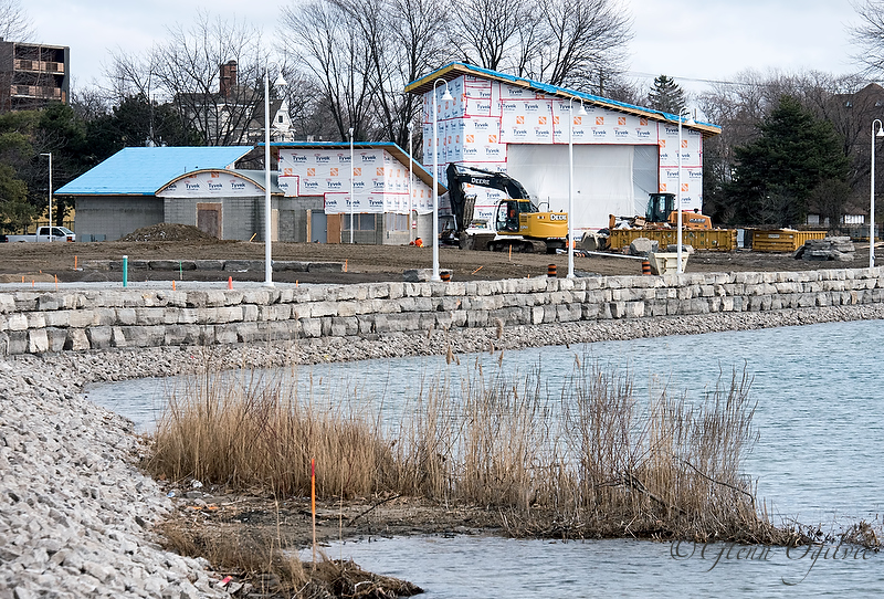 The new stage, concession and washrooms are taking shape in Centennial Park. Glenn Ogilvie