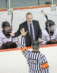 Ron Fogarty, head coach of the Princeton University men's hockey team, has been nominated for the 2016-17 ECAC Coach of the Year award. Photo courtesy, Beverly Schaefer