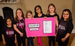 Girl Power members, from left, Diya Duggal, 7, Ally Campbell 9, Amelia Glazier 10, Raveena Duggal 10, Coehan Hookey 9, Alisha Iqbal 9. Troy Shantz