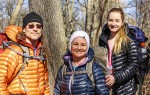 Larry, Amanda and Heaven-Lee Morten, of Corunna, are about to hike from Mexico to Canada in support of youth mental health. Submitted Photo