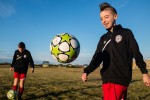 Kieran Maddock, 12, right, and Tyler Hopwood, left, both of the Sarnia FC soccer club, have been selected to play in the Gothia Cup in Gothenburg, Sweden. Troy Shantz