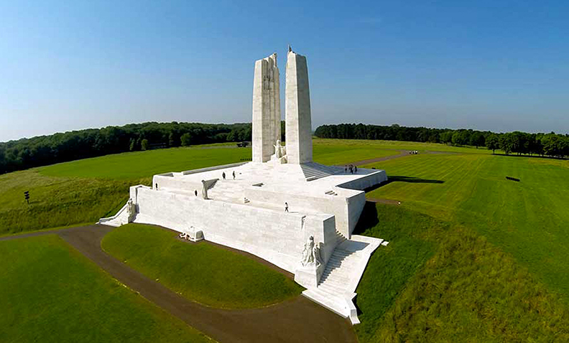 The Canadian National Vimy Memorial in France bears the names of 28 soldiers from Sarnia killed with the Canadian Expeditionary Force during the First World War. Submitted Photo