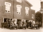 Polly lived at the old George Street fire hall, which was on the north side of George near the intersection of Victoria Street. Built in 1859 it was razed for parking when the East Street fire hall opened in 1965. Photo courtesy, Sarnia Historical Society