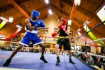 Blake Loxton, right, has his sights set on gold at the first round of Golden Gloves this weekend in Kitchener. Here, Loxton battles boxer Sean Augustine. Edward John Allen photo