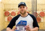 Bo Tait, co-owner of the Valley Axe throwing range in Sarnia, is now a U.S. National Tomahawk throwing champion as well. Troy Shantz