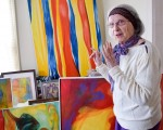 Jesse Rabbitt, 91, is staging a one-woman art show at the R.W. Lawton Gallery, opening May 5. Cathy Dobson