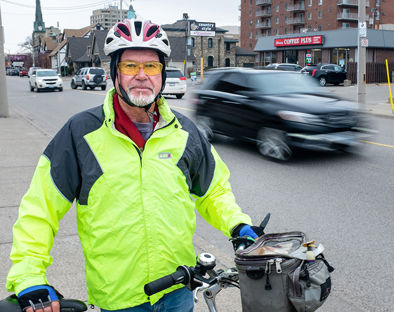 Hal Regnier says some city streets simply aren't safe enough to cycle on. Troy Shantz