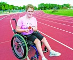 Abbey Leblanc, then 15, developed a new outlook on life after discovering wheelchair sports last year and earning a bronze medal at the Ontario high school track and field championships. Her racing wheelchair, however, is now broken and can't be repaired. Glenn Ogilvie file photo