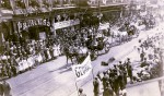 A vast crowd filled both sides of Front Street to cheer on a Royal visit by the Duke of Connaught and his daughter Princess Patricia, who came to officially declare Sarnia a city on May 7, 1914. Lambton Heritage Museum Photo