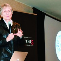 Roberta Bondar speaks at the Enbridge Famous 5 speaker series. Cathy Dobson