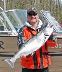 Brian Donkers of Camlachie was the winner in the salmon category of the Bluewater Anglers Sarnia Salmon Derby with this 14.46 pounder. Submitted Photo