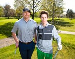 Chris Dickson, the Sarnia Golf and Curling Club's director of instruction, with junior member and perforance program enrollee Brett Brydges, 17. Troy Shantz