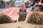 Paige Vrolyk of St. Patrick's won bronze in the junior women's triple jump at the OFSAA Track and Field Championhsips in Belleville, Ont. on June 2. Bruce Smith, Special to The Journal