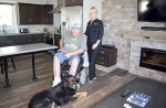 Jamie Stewart with his sister Terri Neely, and  Jamie's dog Abby. Cathy Dobson