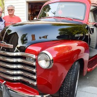 Julianne and Jack Higdon with their restored 1951 Chevrolet  panel truck. Cathy Dobson