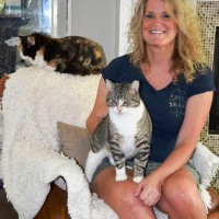 LeeAnne Symington with her own cats Colby and Ashton. Cathy Dobson