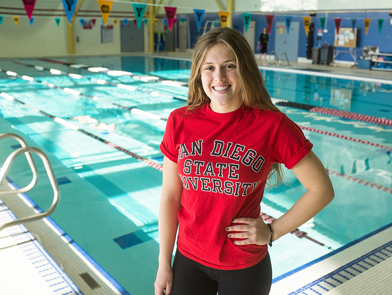 City swimming star headed to california on full ride scholarship the sarnia journal for San diego state university swimming pool